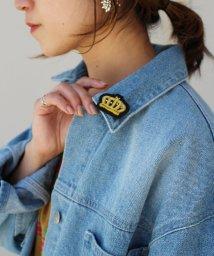 SELECT/〈HAPPY FACE/ハッピーフェイス〉Metal Thread Embroidery Brooch/金属糸刺繍ブローチ B/502362882