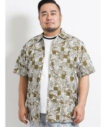 GRAND-BACK/【大きいサイズ】日本製かりゆしバティック柄シャツ/502372353
