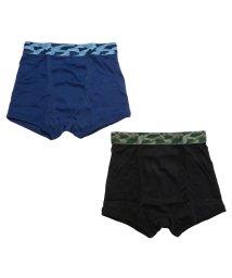 MAC HOUSE(kid's)/Navy ボーイズ 2枚組 ジャガードゴムボクサー 35331/502374579