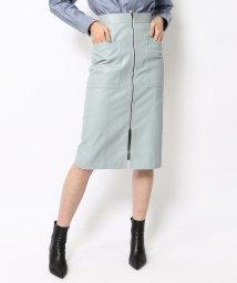 BACCA/スムースシープレザー フロントジップスカート/502375492