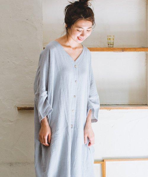pairmanon(ペアマノン)/【ママサイズ】シングルガーゼ シャツ ワンピース/BH19SMOP12