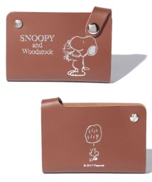 SNOOPY Leather Collection/スヌーピー スライド式パスケース/502356312