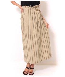 Alluge/ウエストベルト付ラップ風スカート/502361481