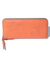 SNOOPY Leather Collection/スヌーピー 革 ラウンド長財布/502362965