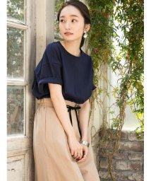 Shelly island/裾ラウンドコットンTシャツ/502363684