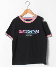 Lovetoxic/USAコットン レインボーリブ肩あきTシャツ/502367612
