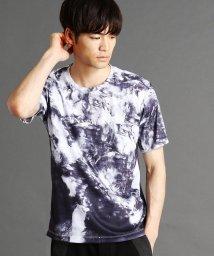 NICOLE CLUB FOR MEN/マーブルプリントTシャツ/502370019