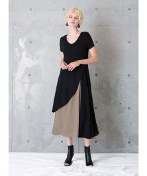 MIELIINVARIANT/ Asymmetry Bicolor Dress /502378099