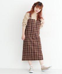 merlot/マドラスチェック柄ジャンパースカート/502379964
