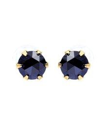 JEWELRY SELECTION/K18YG ブラックダイヤモンド 計0.3ct ローズカット 6本爪ピアス/502381048
