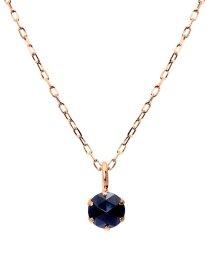 JEWELRY SELECTION/K18PG ブラックダイヤモンド 0.1ct ローズカット 6本爪ネックレス/502381063