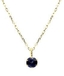 JEWELRY SELECTION/K18YG ブラックダイヤモンド 0.1ct ローズカット 6本爪ネックレス/502381064