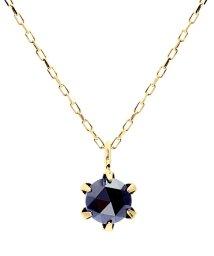 JEWELRY SELECTION/K18YG ブラックダイヤモンド 0.3ct ローズカット 6本爪ネックレス/502381068