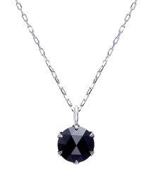 JEWELRY SELECTION/K18WG ブラックダイヤモンド 0.5ct ローズカット 6本爪ネックレス/502381070
