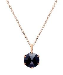 JEWELRY SELECTION/K18PG ブラックダイヤモンド 0.5ct ローズカット 6本爪ネックレス/502381071