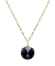 JEWELRY SELECTION/K18YG ブラックダイヤモンド 0.5ct ローズカット 6本爪ネックレス/502381072