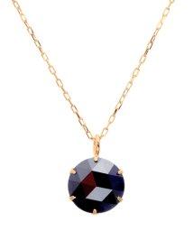 JEWELRY SELECTION/K18PG ブラックダイヤモンド 1ct ローズカット 6本爪ネックレス/502381075