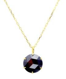 JEWELRY SELECTION/K18YG ブラックダイヤモンド 1ct ローズカット 6本爪ネックレス/502381076