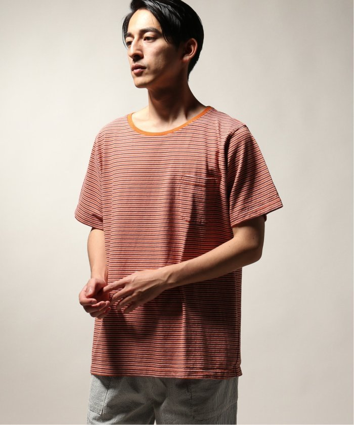 BAMBOO SHOOTS / バンブーシュート  MULTI STRIPE PKT TEE