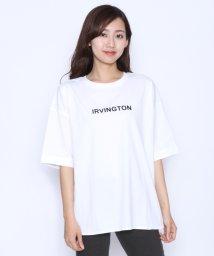 LASUD/[RADIATE ラディエイト]フロッキープリント IRVINGTON ロゴTシャツ/502367676