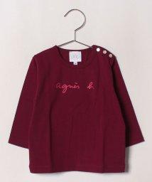 agnes b. ENFANT/S137 L TS ロゴTシャツ/502375217