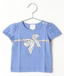 agnes b. ENFANT/SA96 L TS リボンプリントTシャツ/502375218