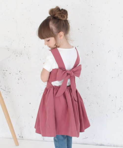 Rora(ローラ)/チェルシー エプロン ドレス(2color)/5012-19-55