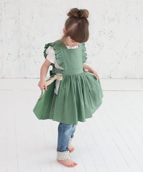 Rora(ローラ)/ジャミー エプロン ドレス(2color)/5015-19-55