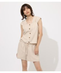 AZUL by moussy/GATHER LINEN BLOUSE/502383905