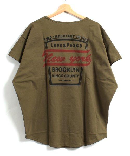 felt maglietta(フェルトマリエッタ)/バックプリントロゴロング丈Tシャツ/3652