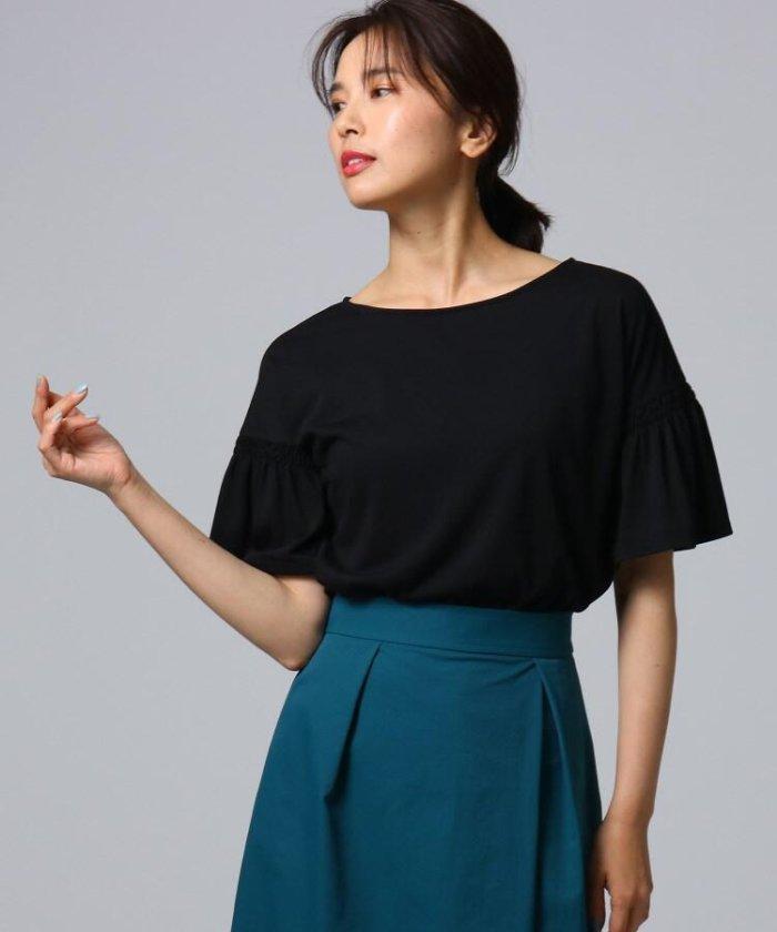 [L]ギャザー袖デザインプルオーバー