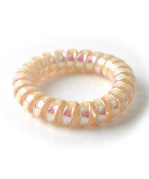 cream dot/まとめ髪に便利で可愛い、優秀スプリングヘアゴム/502385875