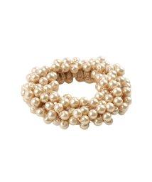 cream dot/ノーブルな艶めきが上品華やかなバブルパールヘアゴム/502385980