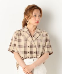 archives/【SETUPにも】チェックダブルボタンオープンカラーシャツ/502313153