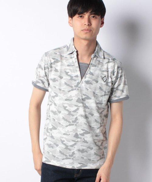 MARUKAWA(マルカワ)/カノコ カモフラ柄 ポロシャツ/0142350055