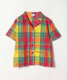 agnes b. FEMME/CM03 CHEMISE チェックオープンカラーシャツ/502370861