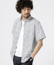 nano・universe/小花柄ショートカラーシャツS/S/502372064