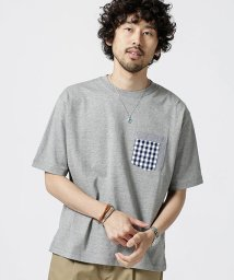 nano・universe/異素材パッチワークポケットTシャツ/502372068