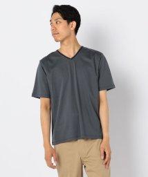 GLOSTER/ダブルカラーVネックTシャツ/502373692