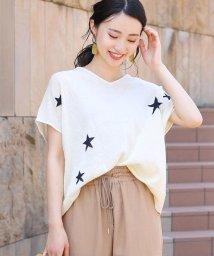 Bou Jeloud/人気の星柄◆綿麻ニットプルオーバー/502381082