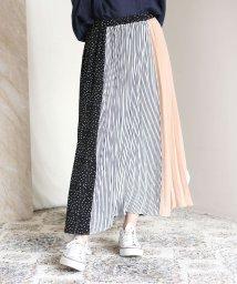 Bou Jeloud/◆切り替えデザインが華やか◆ヴィンテージブロッキングプリーツスカート/502381083