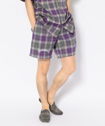 LHP/PLEASURES/プレジャーズ/SHADOW PLAID SHORTS/502387122