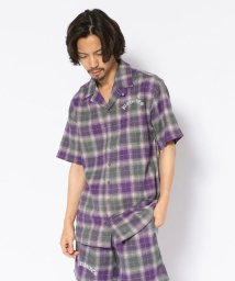 LHP/PLEASURES/プレジャーズ/SHADOW PLAID S/S BUTTONUP SHIRTS/502387123