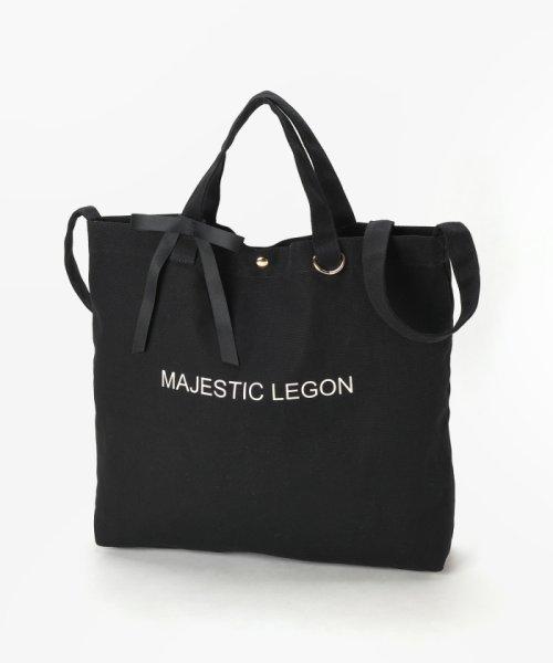 MAJESTIC LEGON(マジェスティックレゴン)/リボン付ロゴトートBAG/1096125501