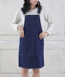 LACEEQ/デニムジャンパースカート/502389012