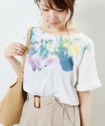framesRayCassin/衿ぐり花柄タックTシャツ/502389313