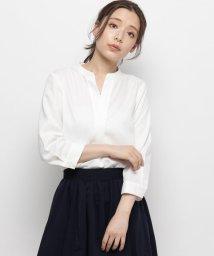 Sofuol/キーネックスタンドカラーシャツ/502389860