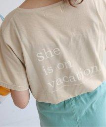 SLOBE IENA/SLOBE citron. she is on vacation.Tシャツ◆/502390113