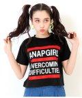 ANAP GiRL/クロップド丈3ラインTシャツ/501998729