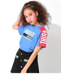 ANAP GiRL/袖配色ロゴTシャツ/502326983